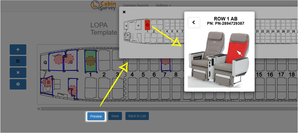 LOPA template in Cabin Survey
